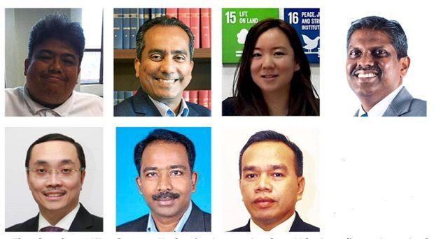 Adhering to international regulations: (Clockwise from top left) Rhymie, Philip, Chua, Jai Shankar, Mohd Asri, Balan and Norazman.