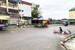 Public deserts market in Sibu after four job seekers test positive for Covid-19