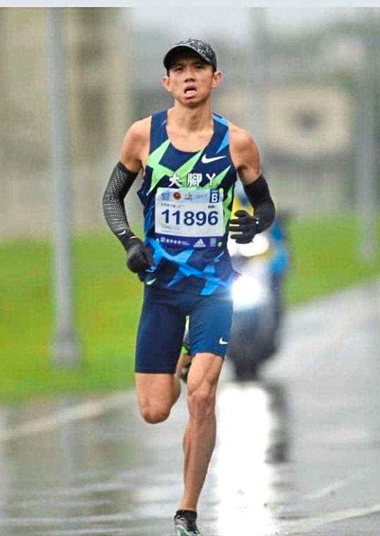 Off and running: Tan Huong Leong broke the national record at the Taipei Marathon.