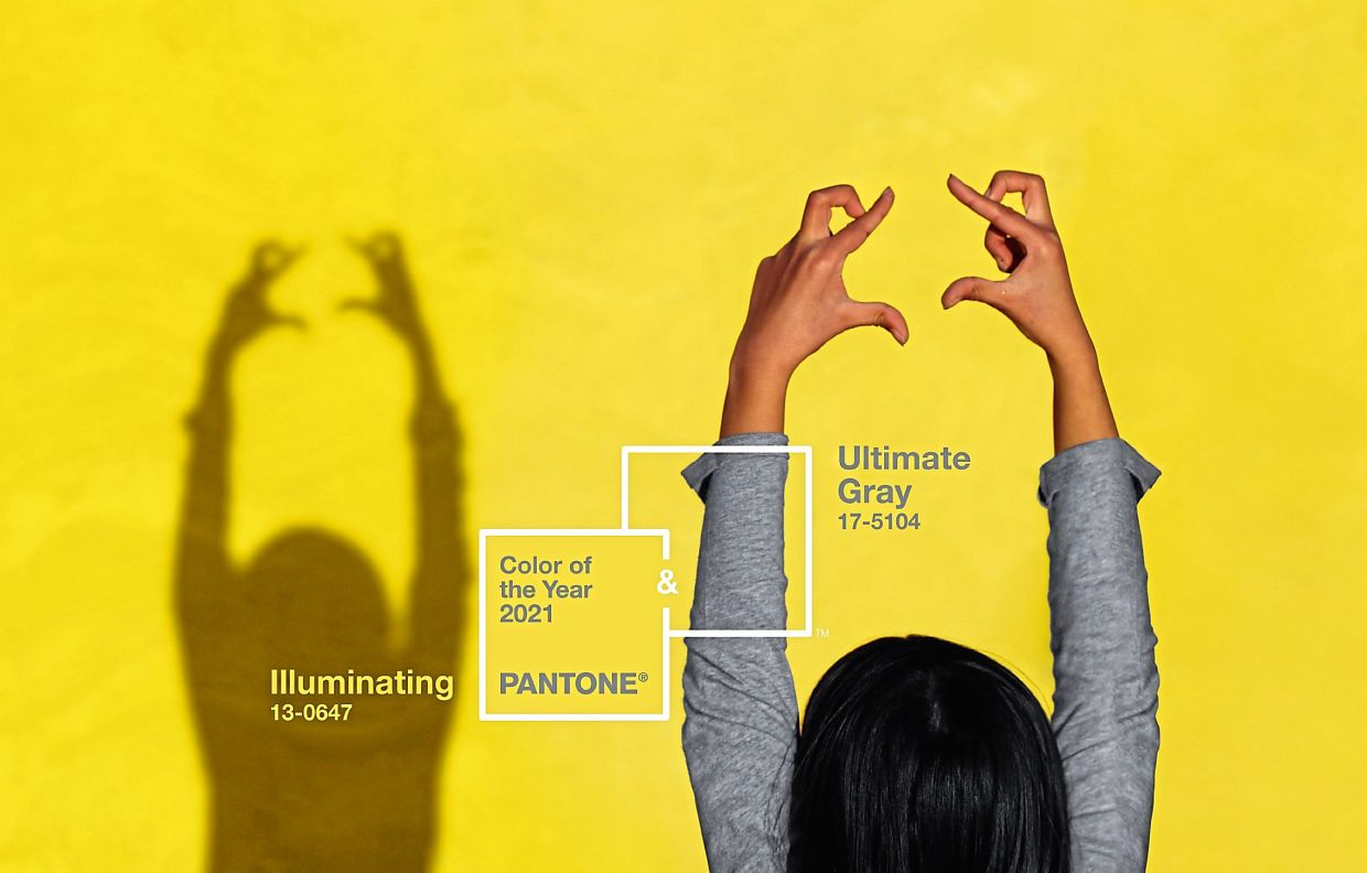 The Colour of the Year revealed by Pantone for 2021 is a mix of two contrasting colours: Illuminating (a luminous yellow) and grey. Photos: Pantone Color Institute