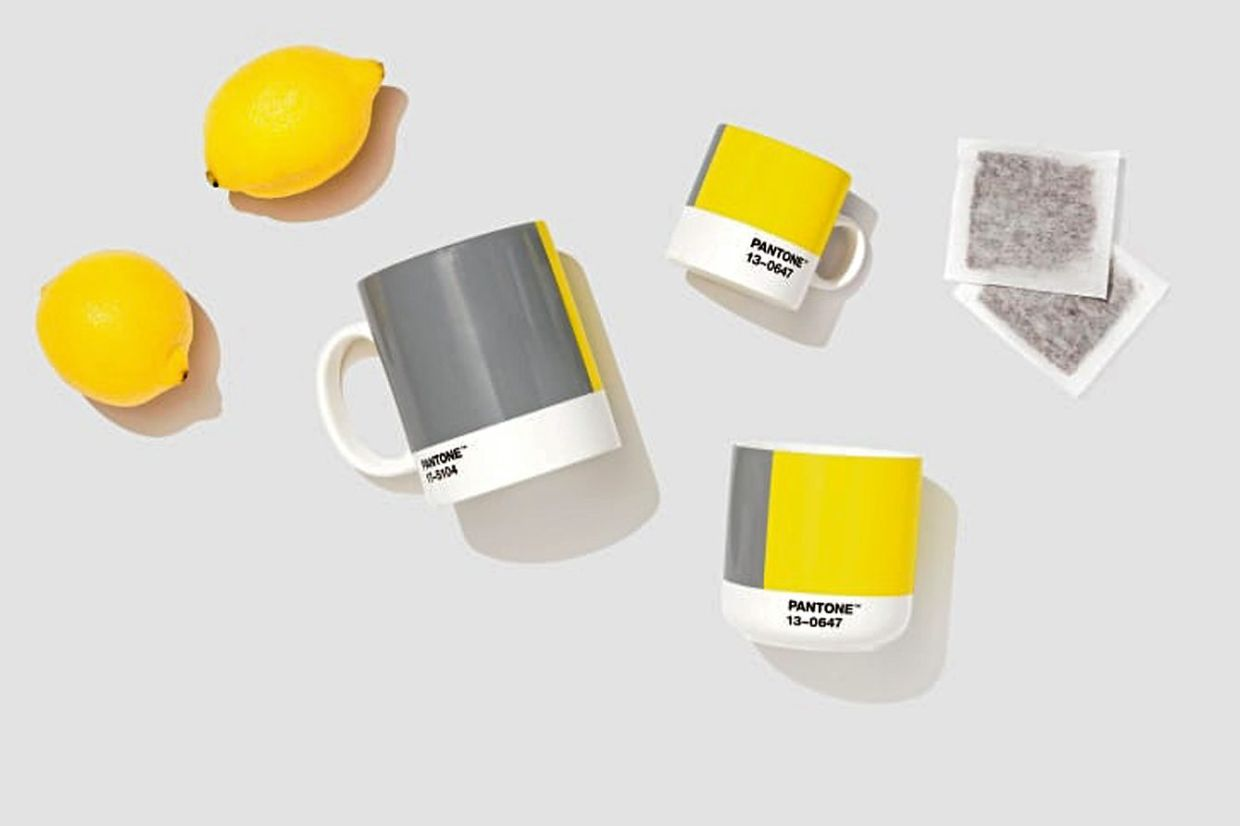 The 2021 Colour of the Year, Illuminating (a luminous yellow) and grey, represents optimism and sobriety.