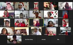 In true pandemic style, cancer survivors celebrate Christmas on Zoom