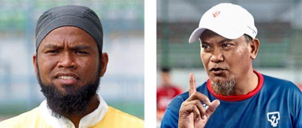 Promotion: Nor Azlan Bakar will take over from Nor Saiful (right) as the Tenaga coach next season.