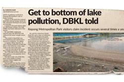 DBKL identifies offender behind Metropolitan Lake pollution