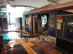 Fire breaks out on monorail coach at Maharajalela station