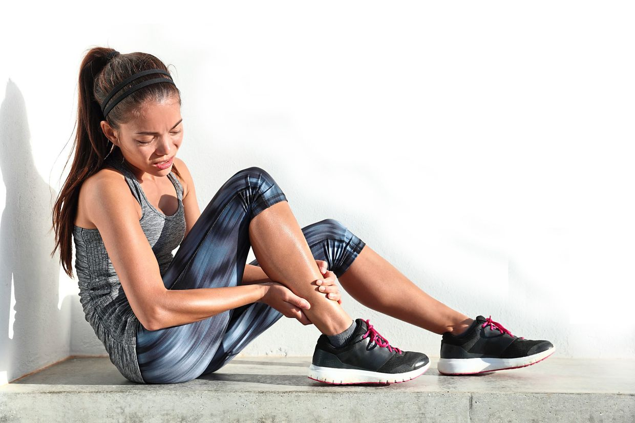 Stretching your calves is important before and after a workout as they are prone to tightening and cramping.
