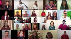 United in song in six languages