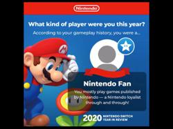 Nintendo Switch has personalised its 'Year in Review 2020' for its users