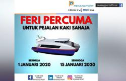 Free ferry services for foot passengers for two weeks