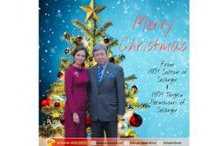 Merry Christmas wish from Selangor royal couple
