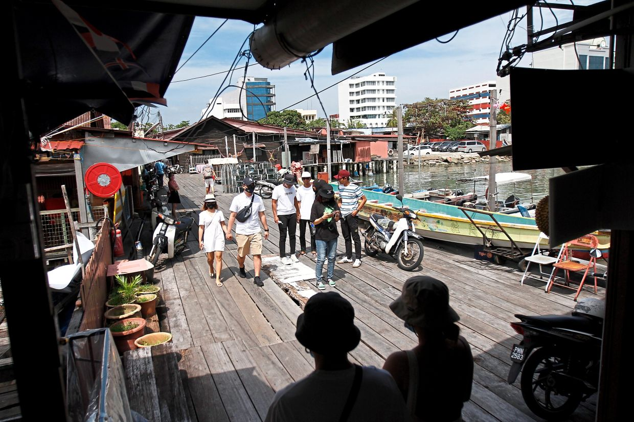 Tourists visiting the jetty during the long Christmas weekend.