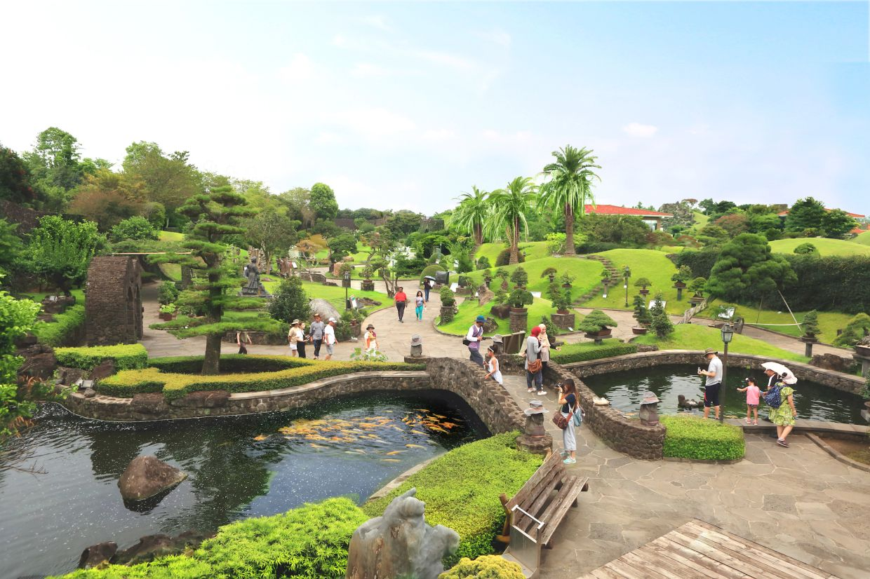The Spirited Garden on Jeju Island features native bonsai plants and thematic gardens.
