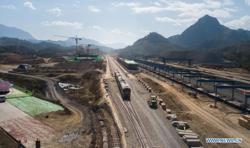 China-Laos railway tracks laid to Luang Prabang