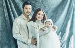 Fazura and Fattah Amin finally reveal their baby's face