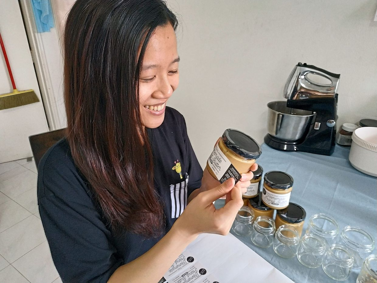 Loh, a full-time musician, started her peanut butter business last June during conditional MCO. Photo: Loh Ui Li