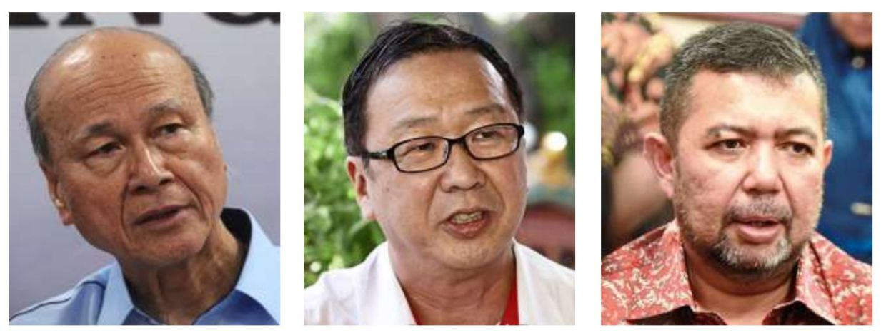 Not in favour: (From left) Lee, Lau and Marzuki are among those opposed to Umno's call for a snap election at this time.