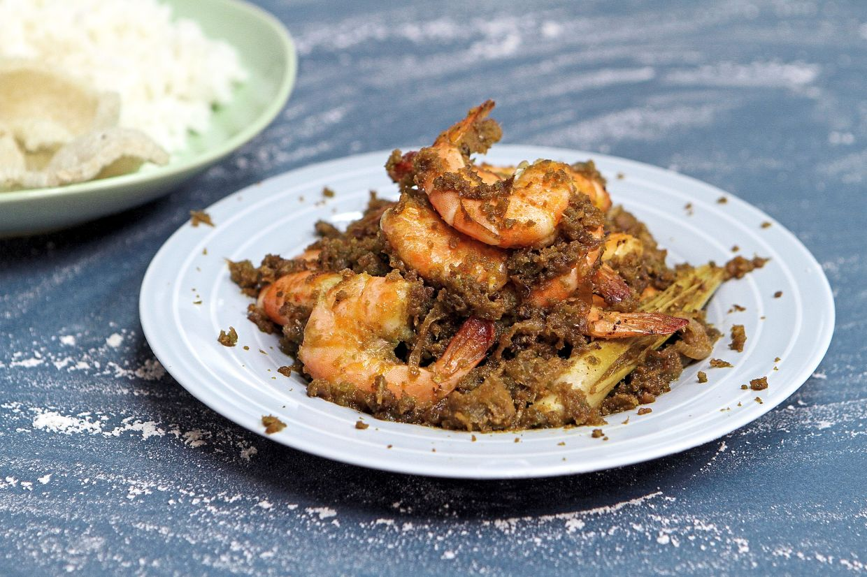 Udang sambal hijau with a touch of heat is best savoured with white rice. — Photos: YAP CHEE HONG/The Star