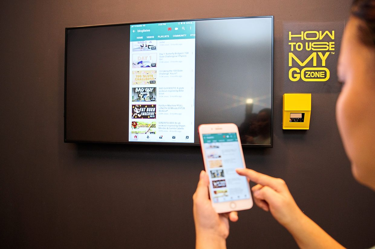 Easy access: Gyms have launched apps to facilitate class bookings for members