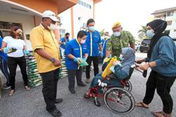 Flats residents thankful for food aid