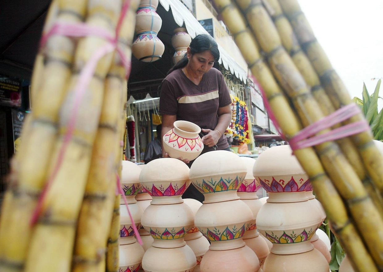 On the first day, which is also referred to as Thai Ponggal, family members usually gather round the clay pot that is used to cook the sweet rice to watch it boil and overflow.