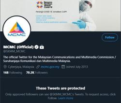 MCMC suspends official Twitter account after it's hacked (updated)