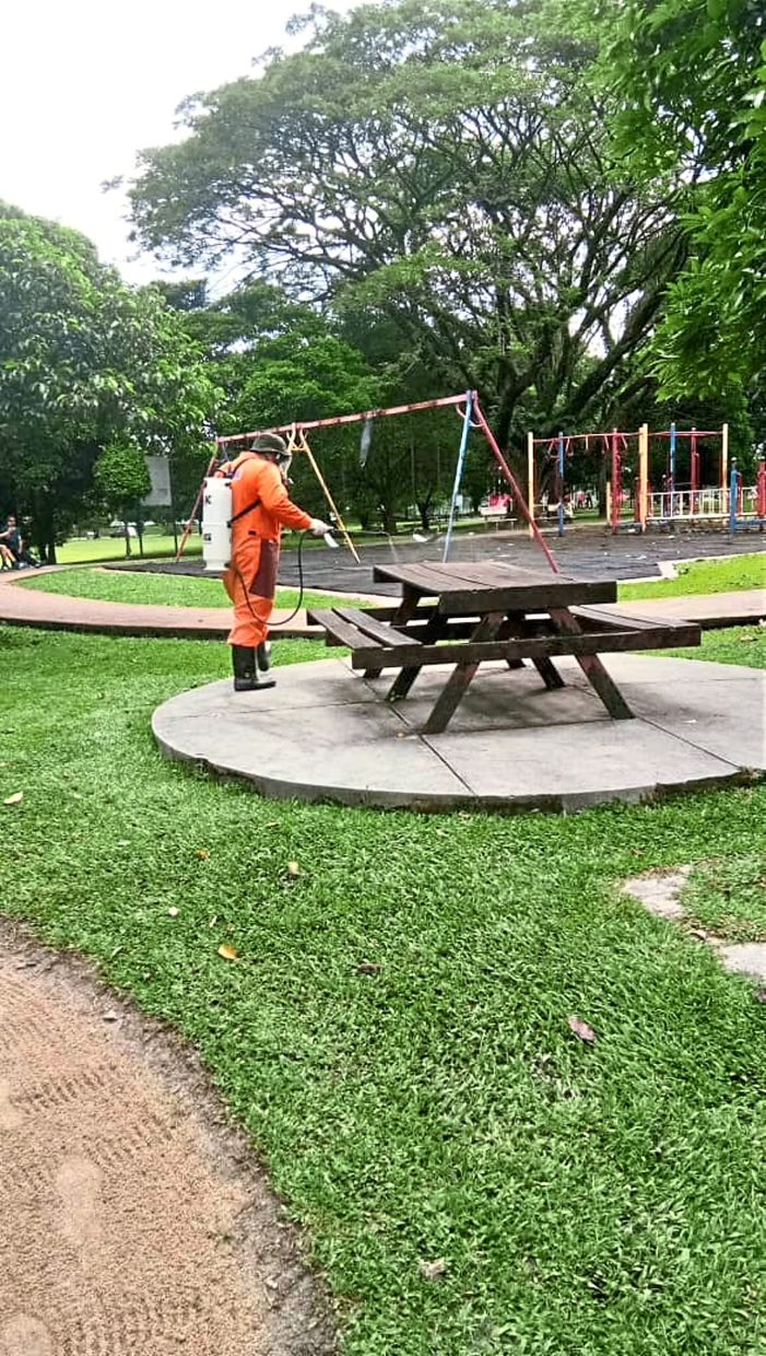 MPAJ's Covid-19 task force focuses on sanitising high touchpoint areas such as playgrounds.