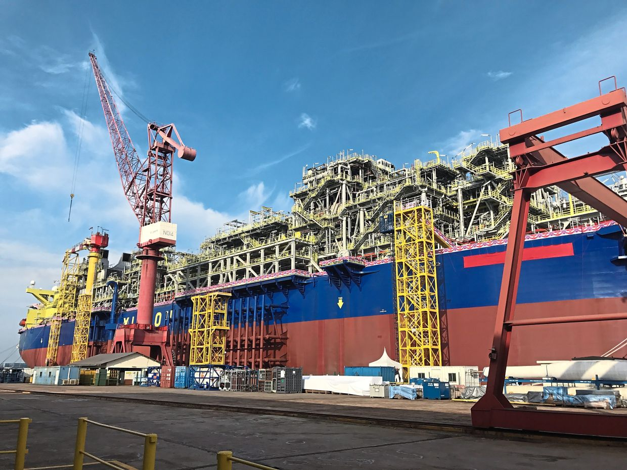 Big projects: Yinson's FPSO John Agyekum Kufuor. The company is currently re-tendering three FPSO projects worth billions of ringgit.