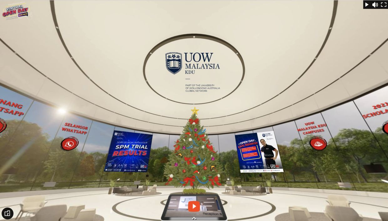 UOW Malaysia KDU's recent Virtual Open Day.