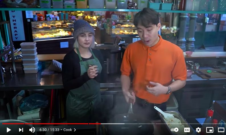 In his most recent video, Uncle Roger's egg fried rice is reviewed by Michelin-starred chef Elizabeth Haigh of Mei Mei restaurant in London, England. Photo: YouTube/mrnigelng