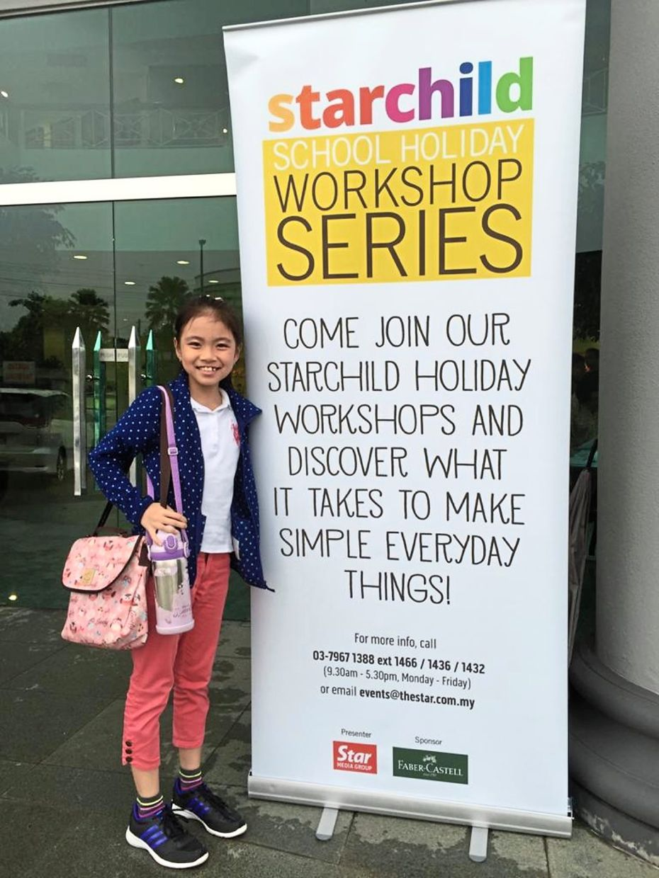 Teoih has been interested in writing after attending the Starchild/Faber Castell writing workshop in 2016. Photo: Eunice Eu