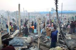Fire destroys homes of thousands in Rohingya refugee camps, UNHCR says