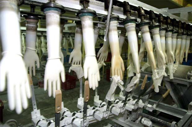 Superax glove production