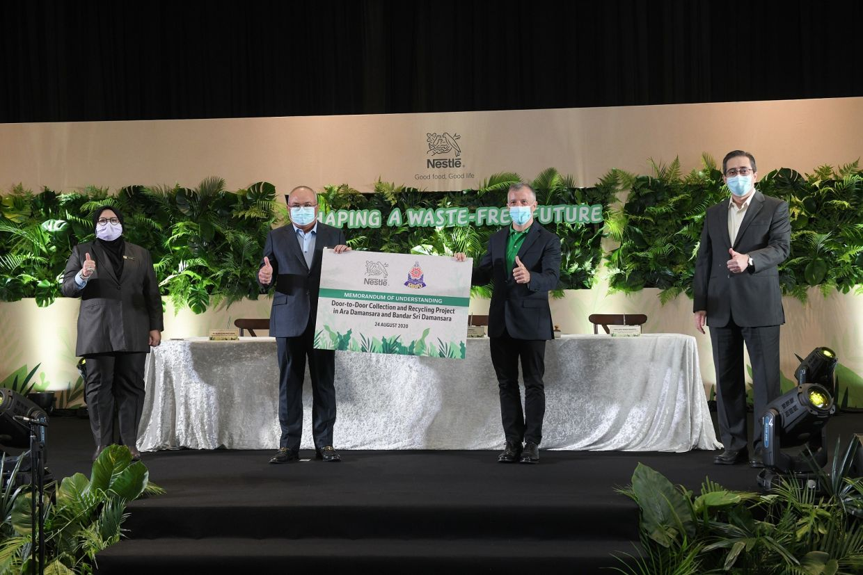 "Nestle recently signed a MoU with MBPJ to kick-off ""Towards a waste free future, together""."