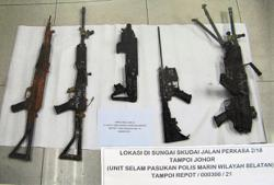 6,000 bullets and one gun recovered