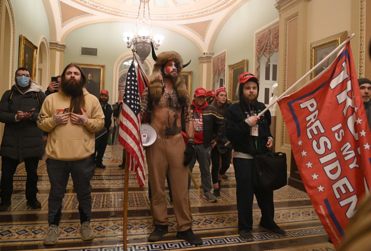 On Jan 6, an angry mob of President Donald Trump supporters took control of the US Capitol in a violent insurrection. Photo: AFP