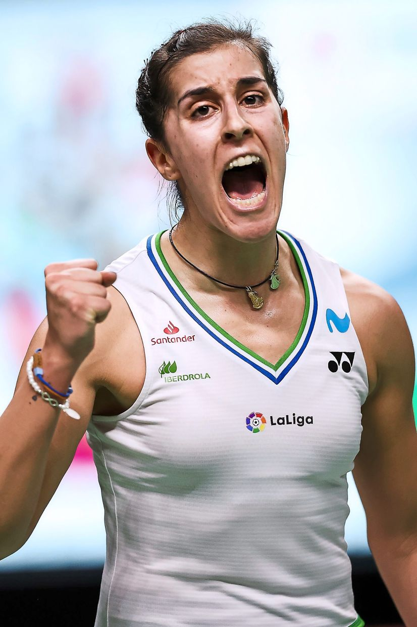Carolina Marin of Spain hopes to keep the momentum going in the next two weeks.