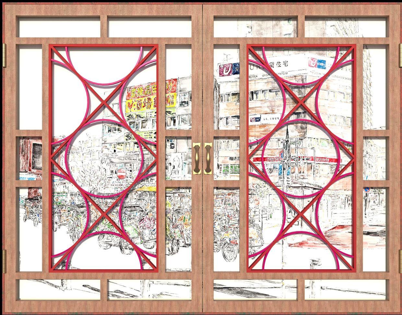 Jun Kitazawa's prototype of 'Dual Window Japan-Indonesia #2' (3D prototype, 2020). Photo: Handout
