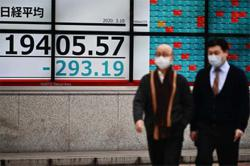Asia shares step back, await China economic update