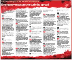 Emergency measures to curb the spread