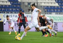 Ibrahimovic scores twice as leaders Milan ease past Cagliari