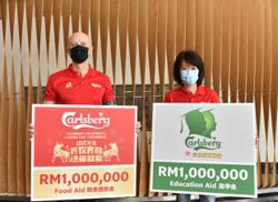 Carlsberg pledges RM2mil in food, education aid