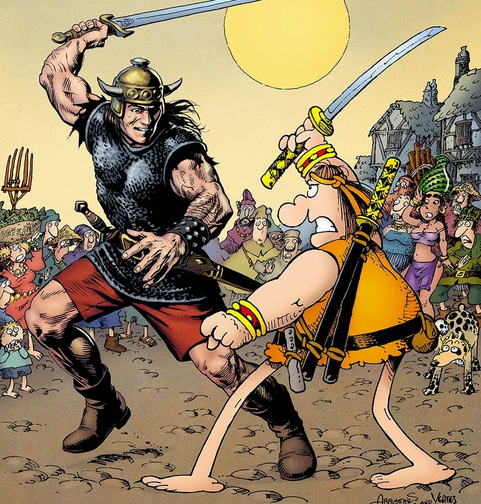 Two of Kaleon's favourite characters, Groo and Conan, in one image? What's not to like? Photo: Dark Horse Comics