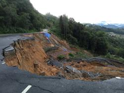 Part of Kinabalu Park road collapses, landslides in seven areas after heavy rains in Sabah