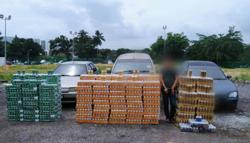 Smuggled liquor worth over RM100,000 seized in Gelang Patah
