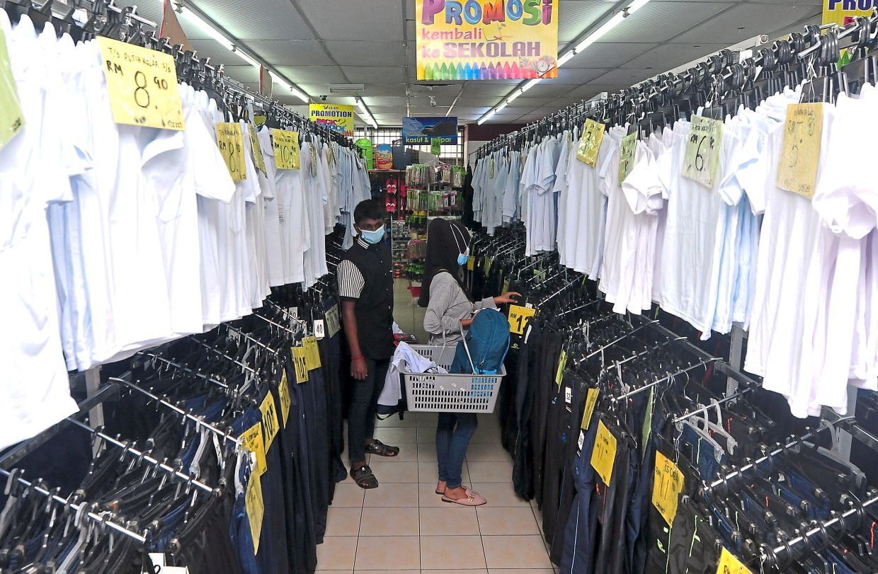 Traders selling school uniforms feeling the pinch