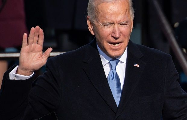 US President Joe Biden is sworn in as the 46th US President on January 20, 2021, at the US Capitol in Washington, DC. -AFP