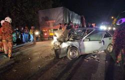 Elderly couple killed in collision with lorry