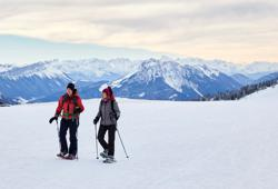 Grounded by COVID restrictions, skiers embrace the humble snow shoe