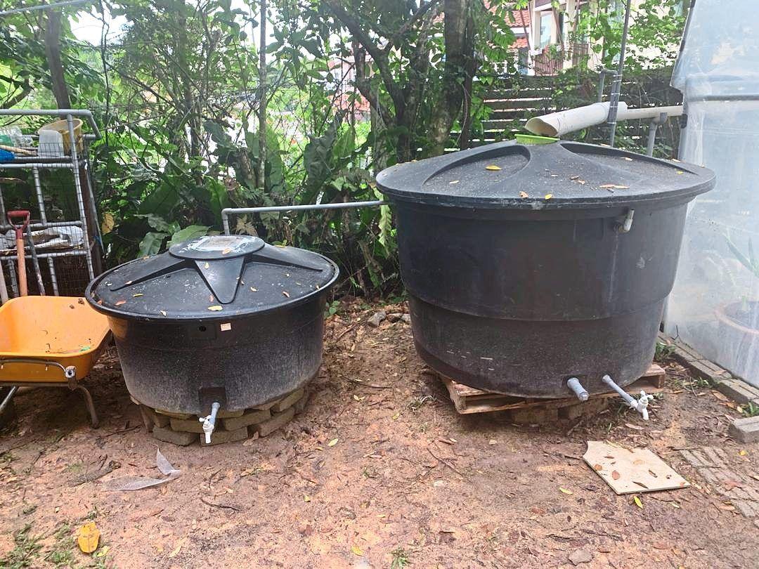 Rainwater harvesting for Bayu Damansara RA's greenhouse project.