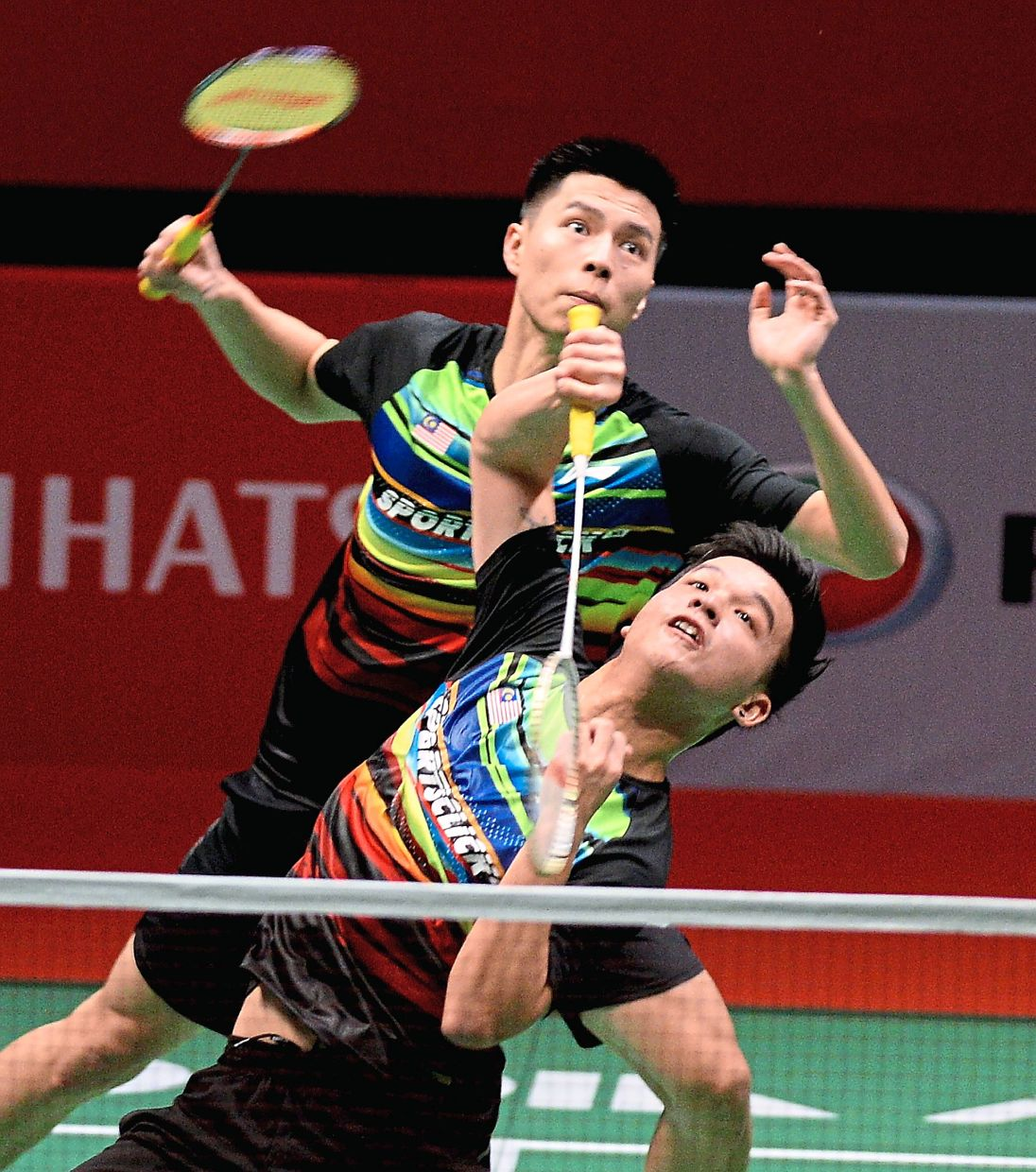 Also through: Ong Yew Sin (back) and Teo Ee Yi will play India's Satwiksairaj Rankireddy-Chirag Shetty in the quarter-finals today.